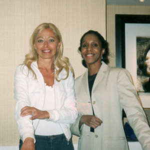 Con Lisa Arrington al comitato editoriale di CNS Spectrums (Philpadelphia, 18-22 maggio 2002)