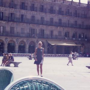 Madrid -  In giro per plaza Major X Congresso Mondiale di Psichiatria (Madrid, Spagna, 23-28 agosto, 1996) con relazione