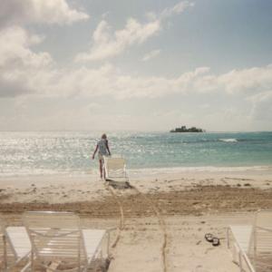 Riposo sula spiaggia dopo la relazione 39° congresso dell' American college of Neuropsychopharmacology (Porto Rico, USA, 10-14 Dicembre 2000)