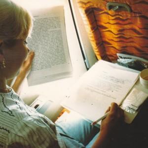 In volo per New York, maggio 1990.
