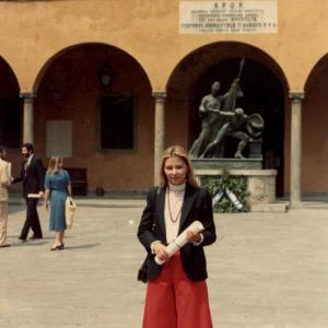 CONSEGNA DI LAUREA - Consegna diploma di laurea ai laureati con 110 e lode (modestamente), Pisa, 29 maggio 1982