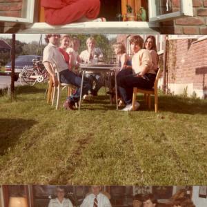 Norvegia 1983 -  Relax insieme ai miei vicini  di casa (foto 1 e 2)  e coi colleghi del laboratorio