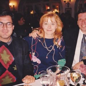 Donatella a Siena con il suo mentore norvegese Jarl Joerstad  Inseme alla moglie Anne Marie e altri amici. 1986